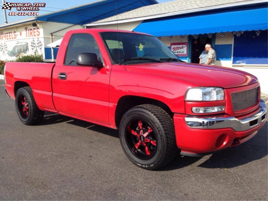 2005 Silverado 1500 >> Chevrolet Silverado 1500 Moto Metal MO969 Wheels Satin Black Red Accents