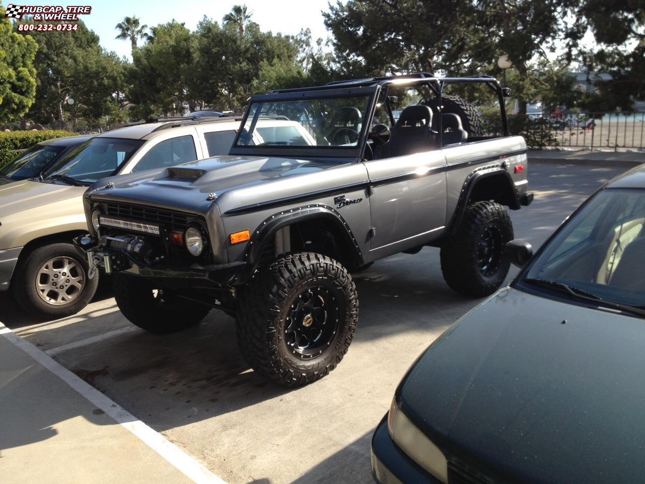 Ford Bronco Fuel Boost D534 Wheels Matte Black & Milled