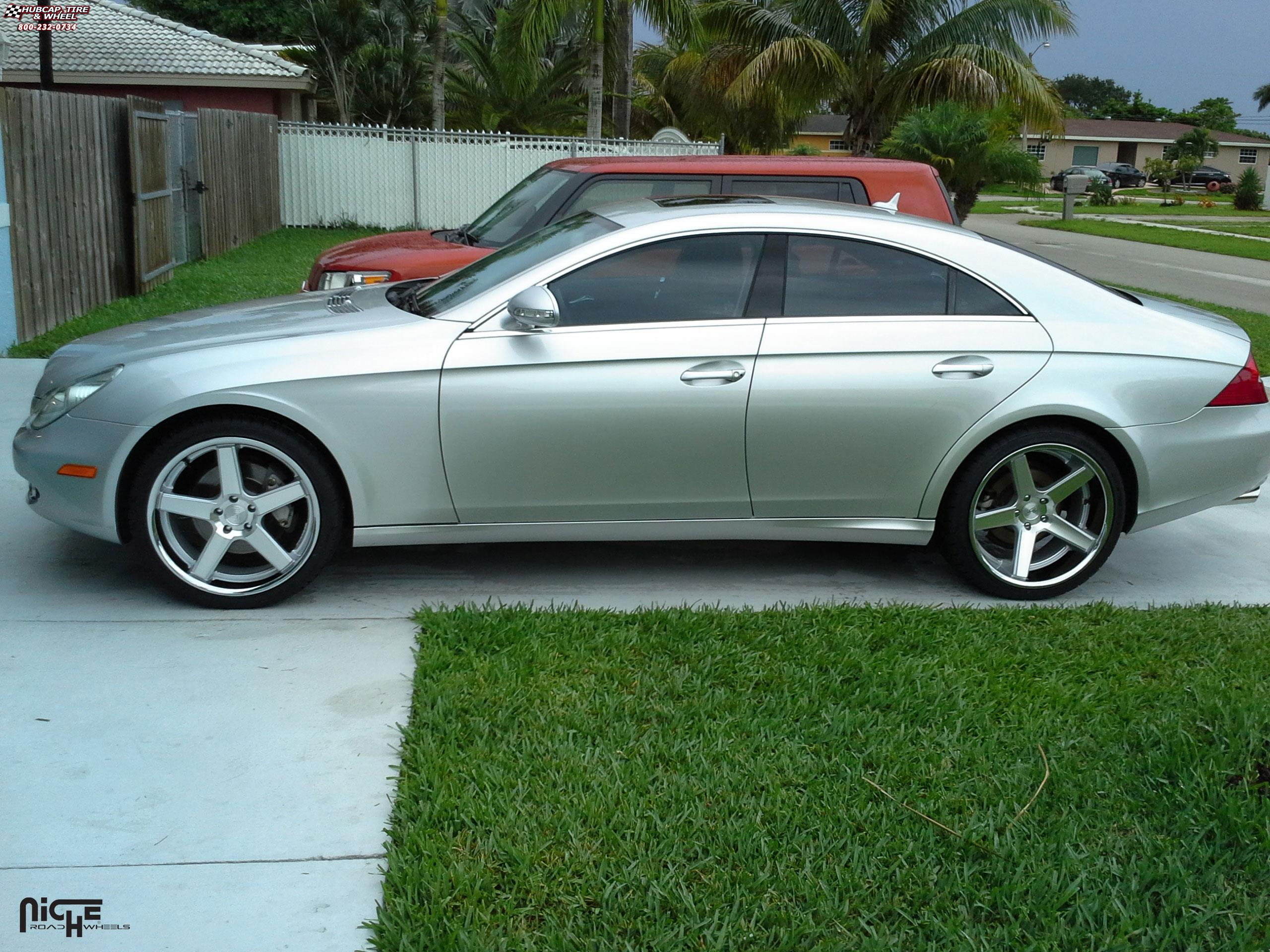 Mercedes benz cls niche nurburg m881 wheels silver for Mercedes benz chrome
