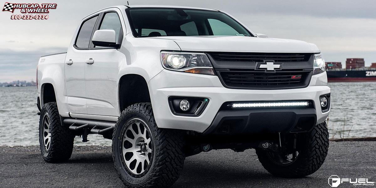 Chevrolet Colorado Fuel Vector D580 Wheels Brushed Face
