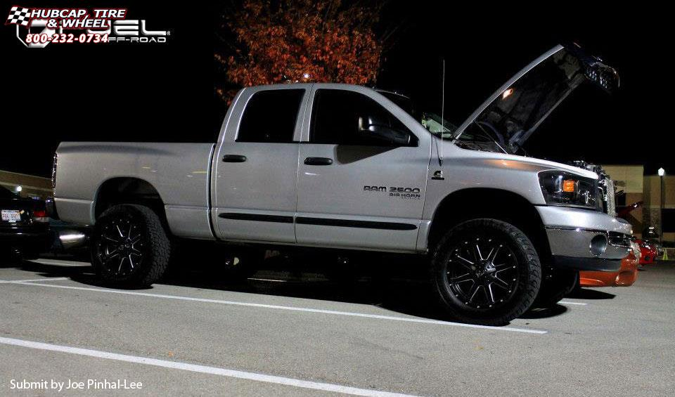 Dodge Ram  Fuel Maverick D Wheels Black Milled