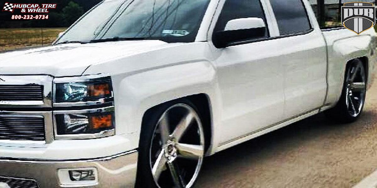 Chevrolet Silverado 1500 Dub Baller - S116 Wheels Black & Machined with Dark Tint