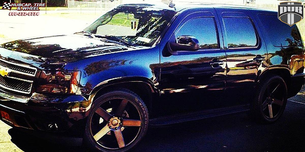 Chevrolet Tahoe Dub Baller - S116 Wheels Black & Machined with Dark Tint