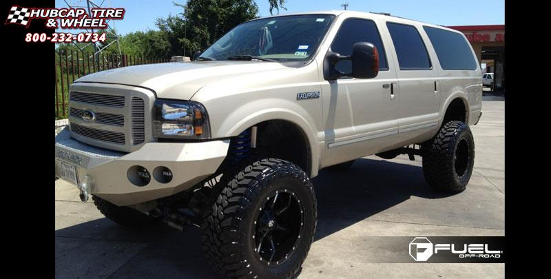 Ford Excursion Fuel Nutz D X Matte Black Milled Wheels And Rims