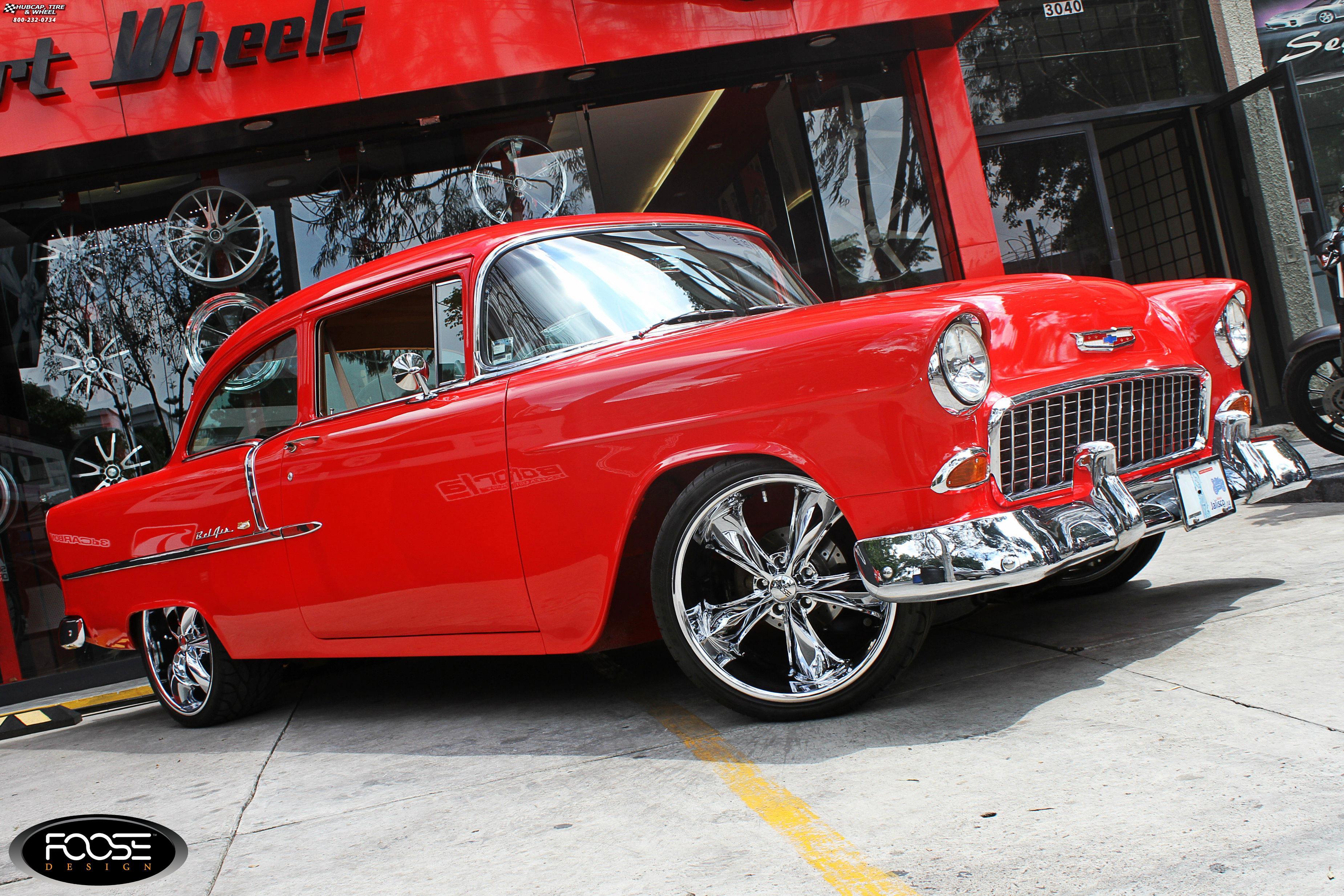 1955 Chevrolet Bel Air Foose Legend F105 Wheels Chrome