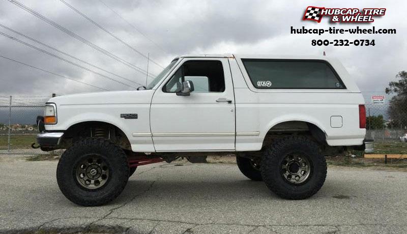 1995 Ford Bronco Atx Series Ax201 Wheels Cast Iron Black