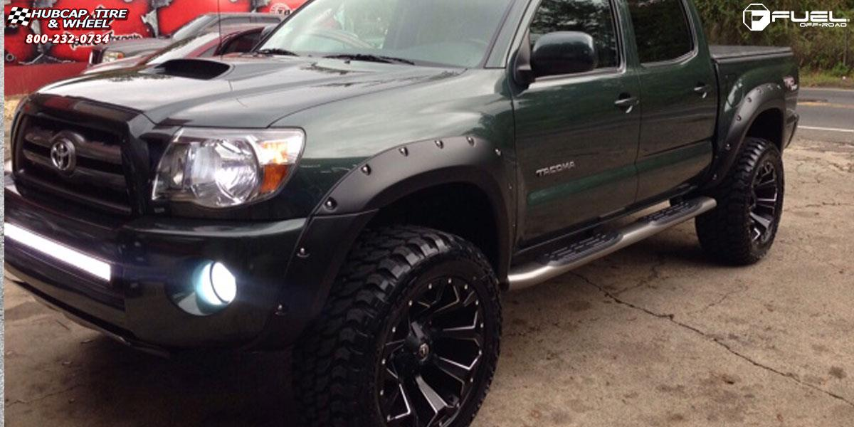 Toyota Sequoia Towing >> Toyota Tacoma Fuel Assault D546 Wheels Black & Milled