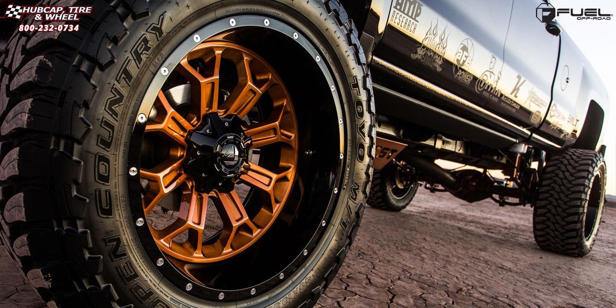 2017 Gmc Sierra Accessories >> GMC Sierra 1500 Fuel Crush D268 Wheels Black & Machined with Dark Tint