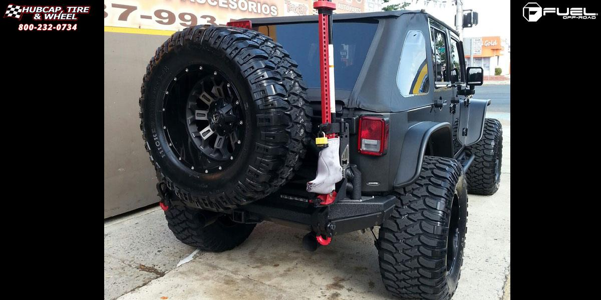 Jeep Wrangler Fuel Crush D268 Wheels Black & Machined with ...