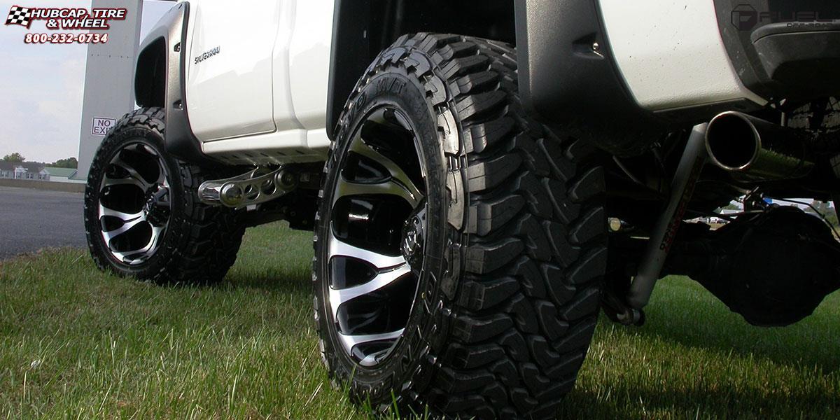 Chevrolet Silverado 1500 Fuel Dune D524 Wheels Machined Black