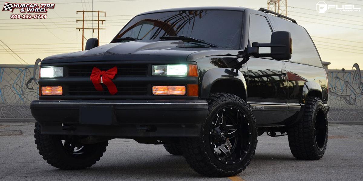 Chevrolet Tahoe Fuel Full Blown D554 Wheels Gloss Black Milled