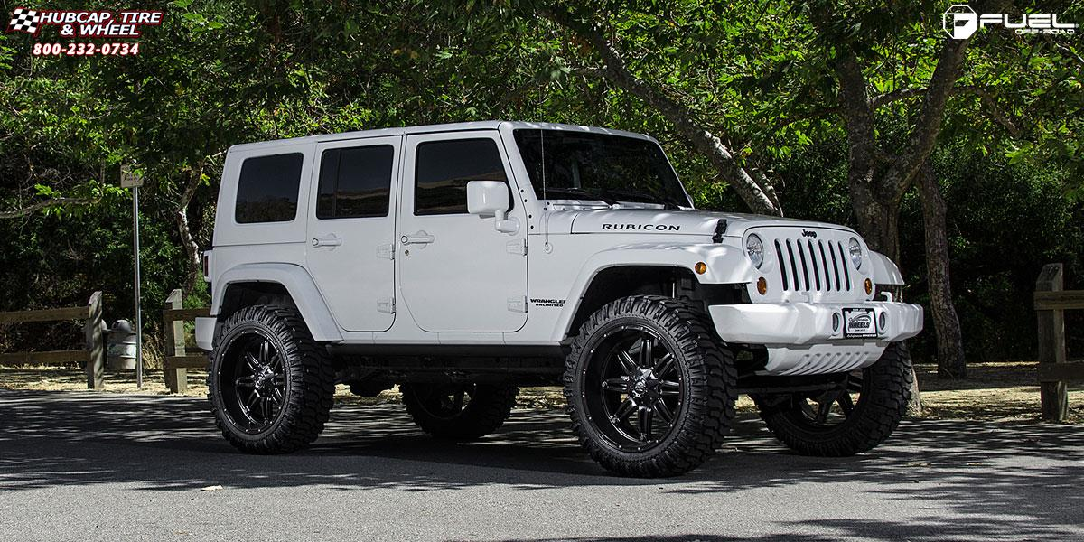Jeep Wrangler Fuel Hostage D531 24X11 Matte Black Wheels And Rims