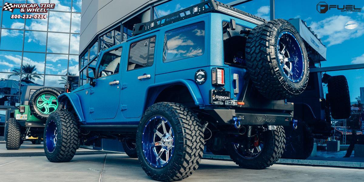 fuel jeep d260 maverick wrangler chrome wheel wheels gloss 22x12 lip tire rims finish tires road