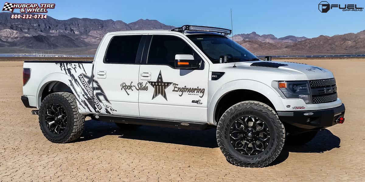 ford f 150 fuel assault d546 wheels black milled. Black Bedroom Furniture Sets. Home Design Ideas