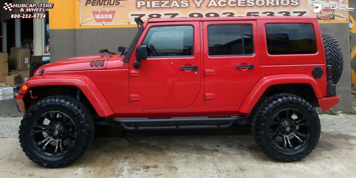 Jeep Wrangler Fuel Vapor D569 Wheels Black Machined With Dark Tint