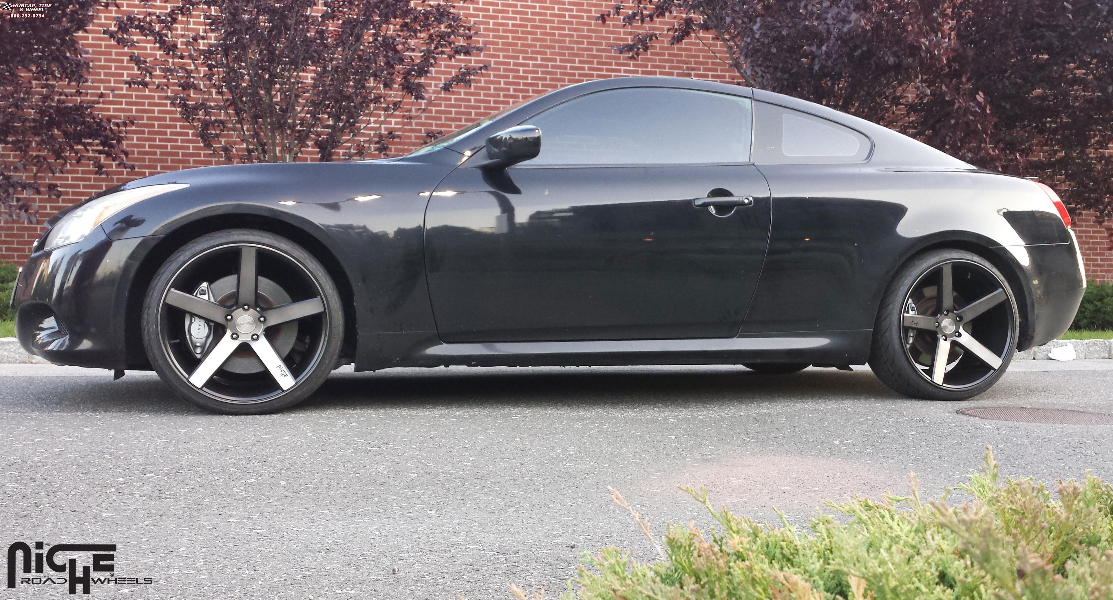 2014 Ford Fusion Tire Size >> Infiniti G37 Niche Milan - M134 Wheels Black & Machined ...