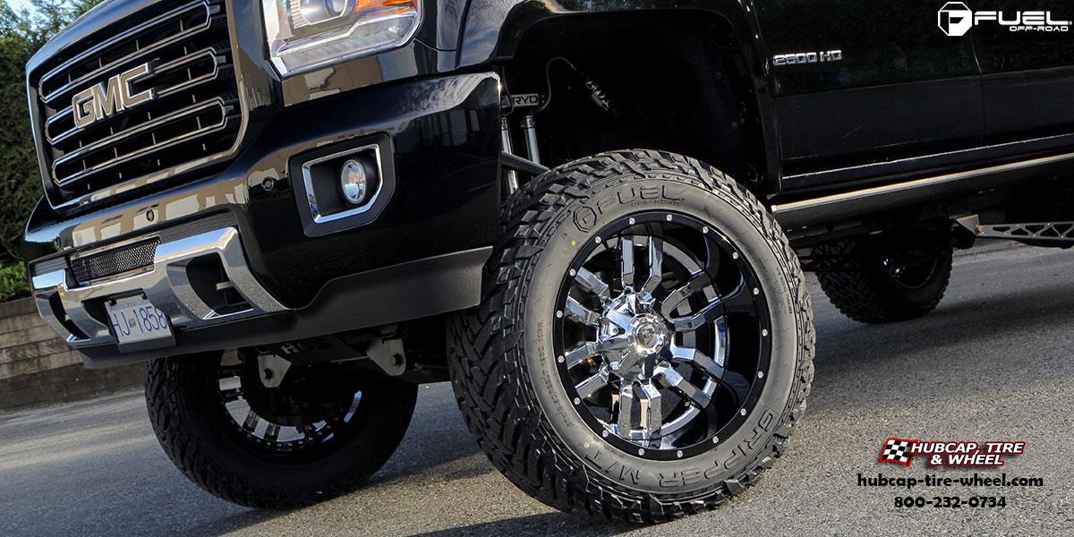 GMC Sierra 2500 HD Fuel Sledge D270 Wheels Chrome w/ Gloss ...