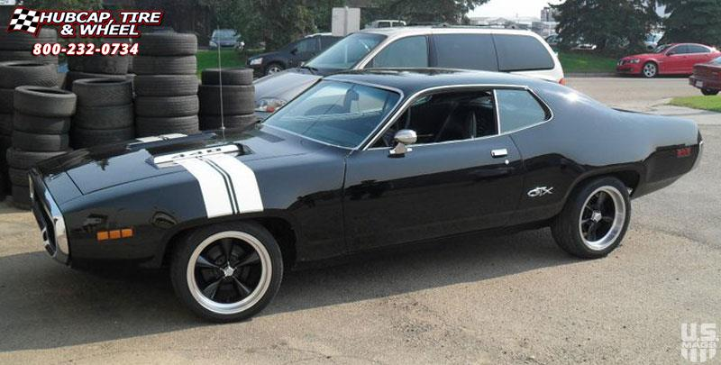 Dodge Gtx Us Mags Standard U107 Wheels Black Amp Machined