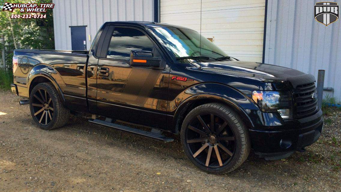 Ford F 150 Dub Shot Calla S121 Wheels Black Machined