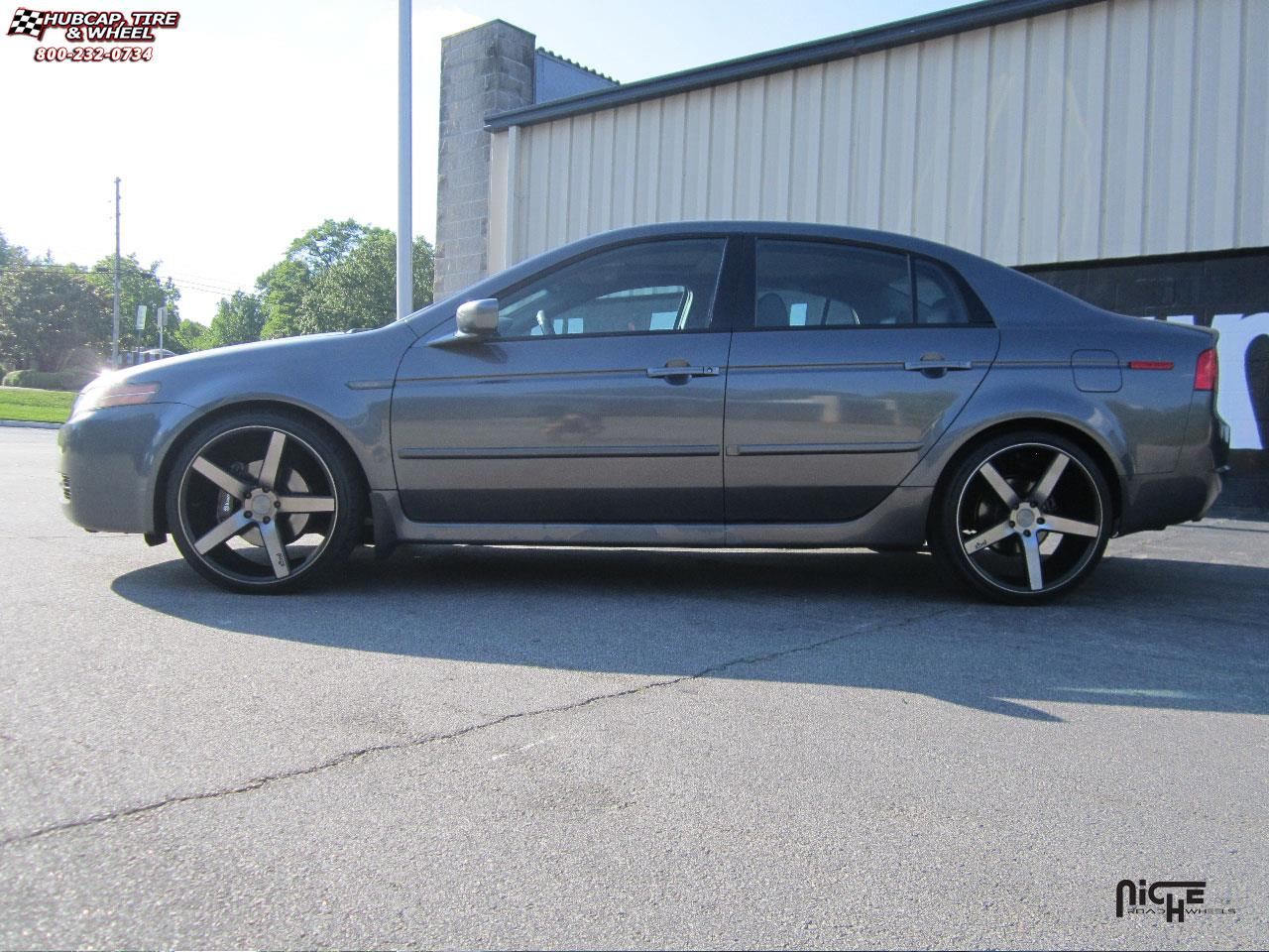 Acura TL Niche Milan M Wheels Black Machined With Dark Tint - Black acura rims