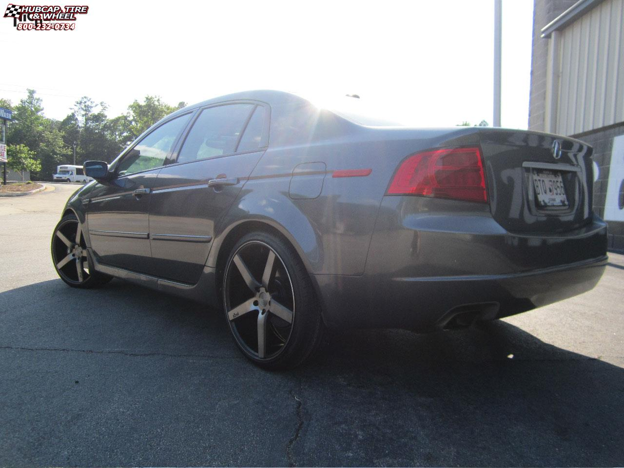 Acura Tl Niche Milan M134 Wheels Black Machined With Dark Tint