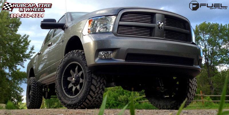 Dodge Ram 1500 Fuel Octane D509 Wheels Matte Black