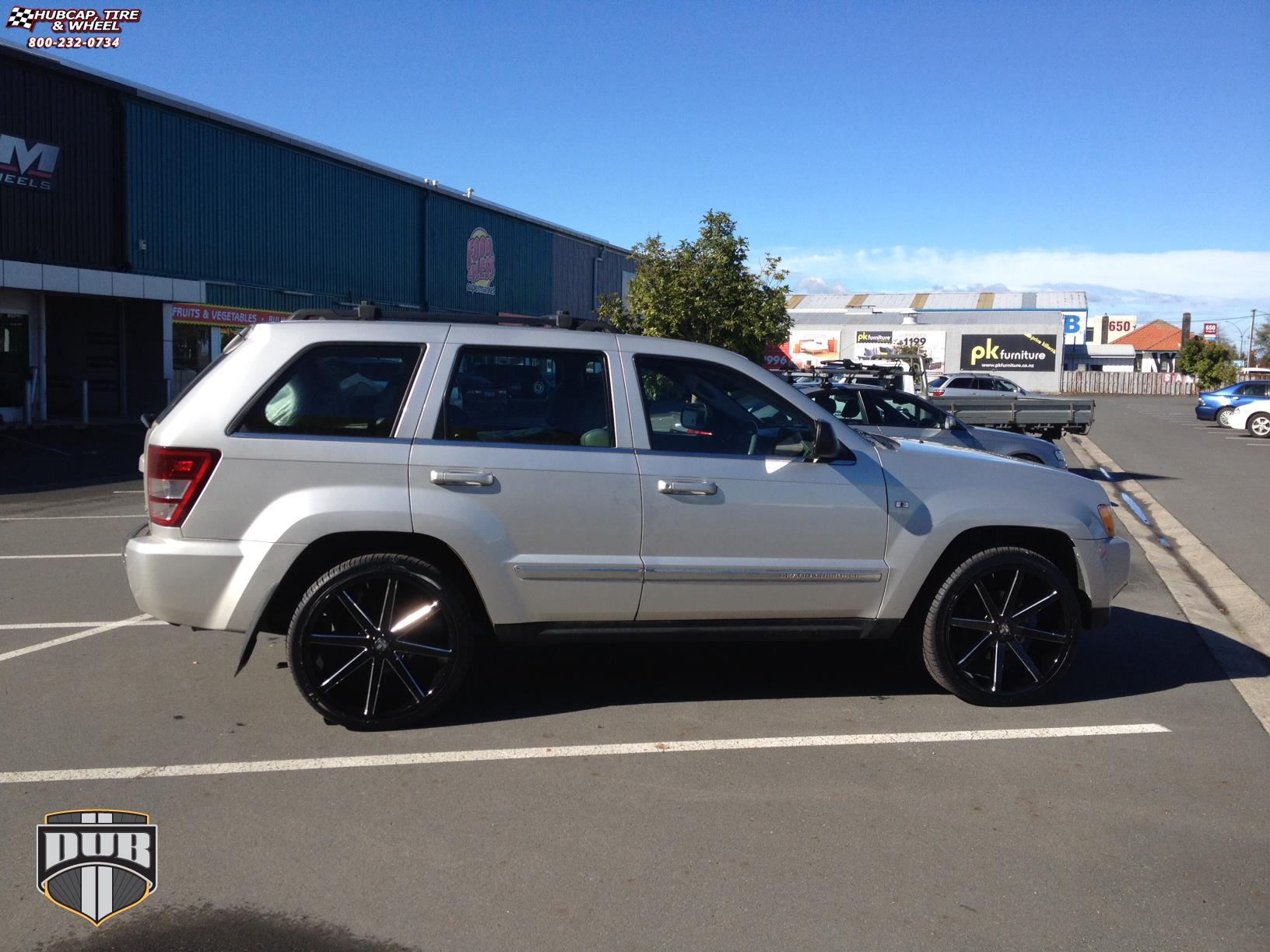 jeep grand cherokee dub push s109 wheels gloss black. Black Bedroom Furniture Sets. Home Design Ideas