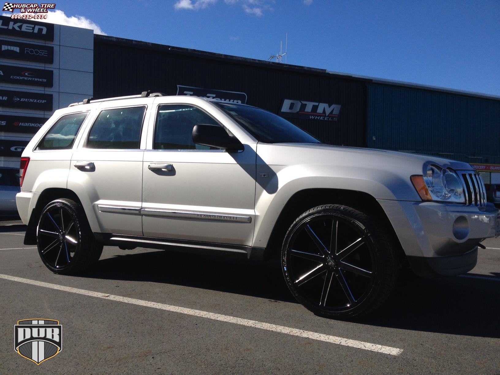 Jeep Grand Cherokee Dub Push S109 Wheels Gloss Black Milled 2005 Trailer Hitch 22x95 And Rims