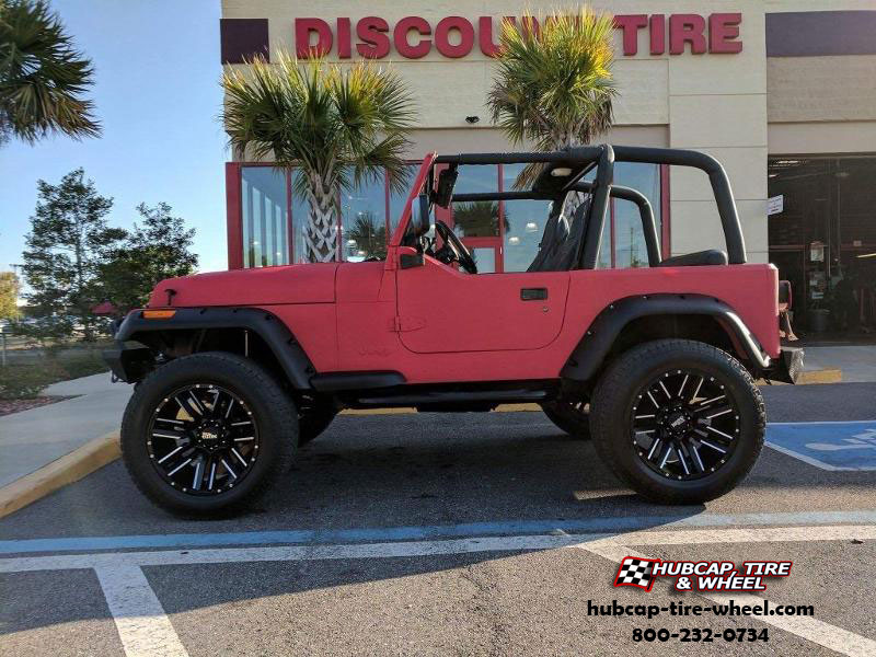 jeep wrangler moto metal mo978 razor 20x10  Satin Black Machined wheels and rims