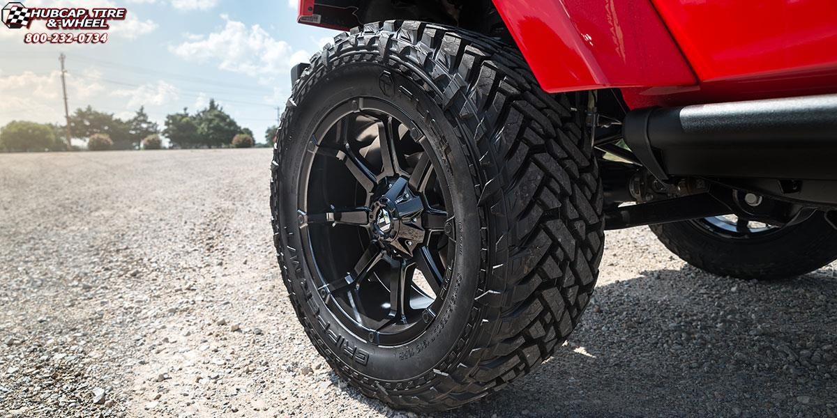 jeep wrangler fuel coupler d575 20X10  Gloss Black wheels and rims