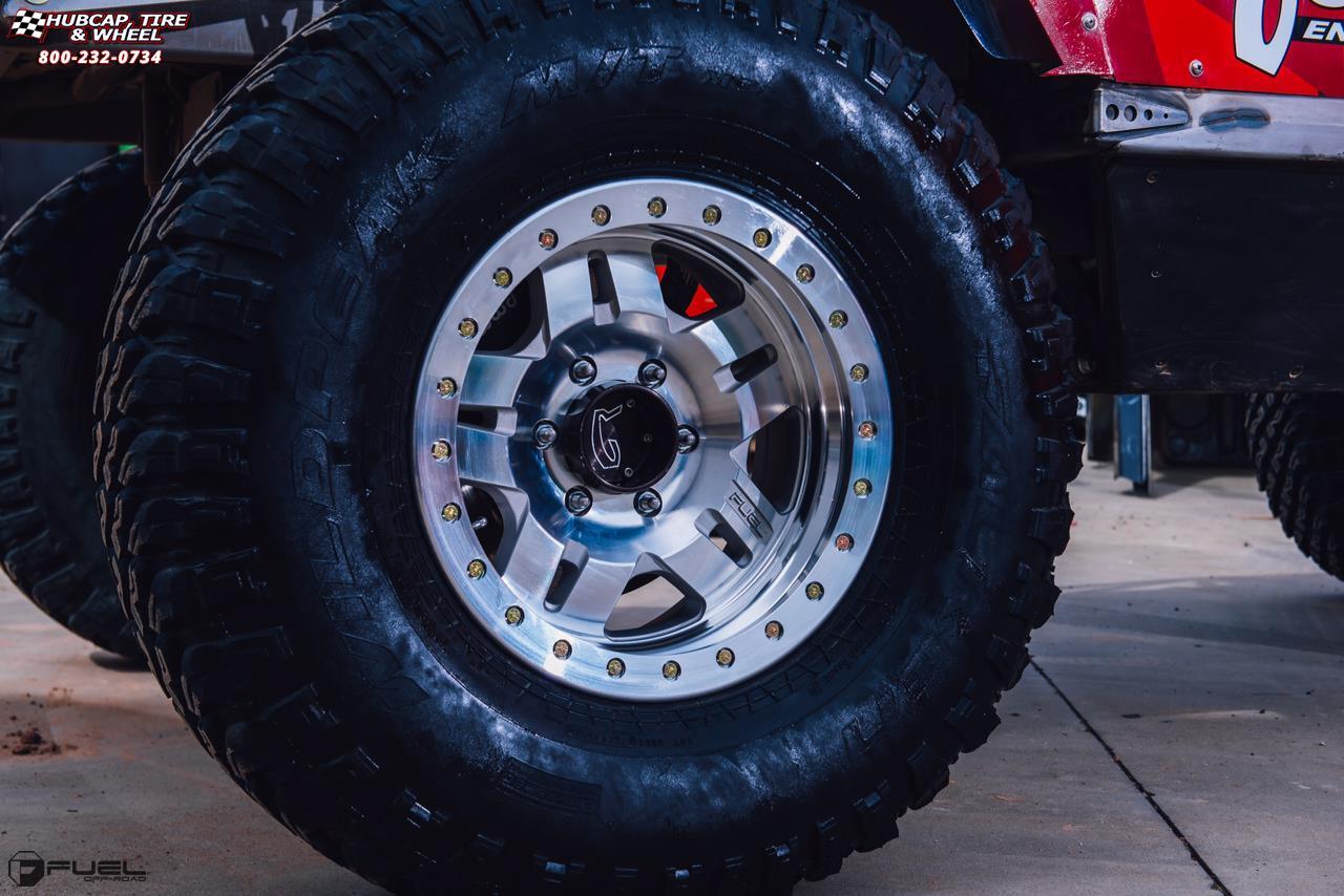 Jeep Wrangler Fuel Anza Beadlock D116 Wheels Raw Machined