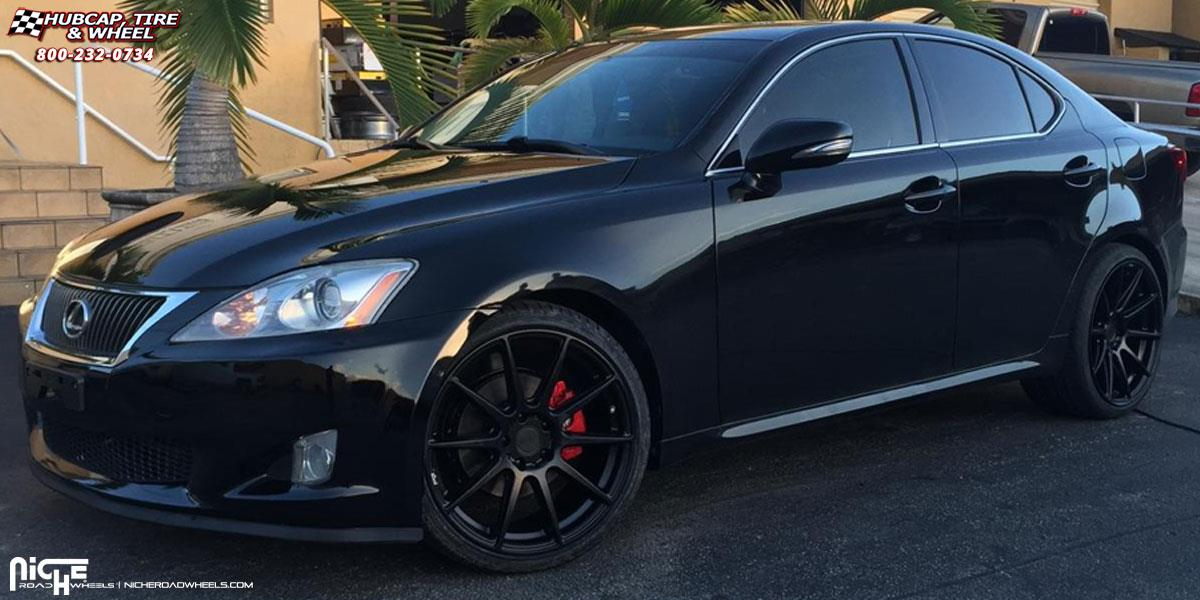 Lexus Is250 Niche Essen M147 Wheels Matte Black