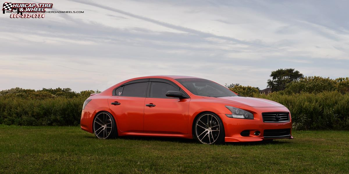 Nissan Maxima Niche Enyo M115 Wheels Black Brushed With Double