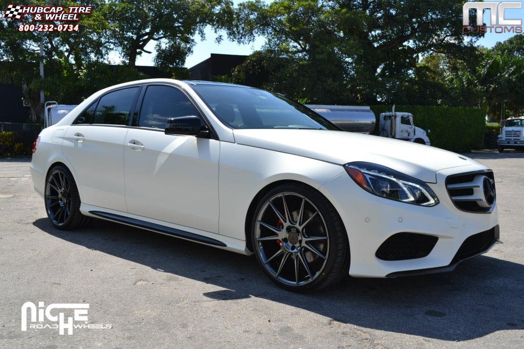 Mercedes benz e550 niche vicenza m154 wheels black chrome for Black rims for mercedes benz e350