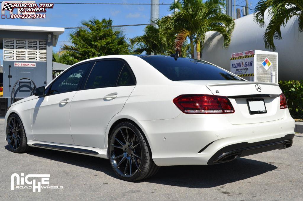 Mercedes Benz E550 Niche Vicenza M154 Wheels Black Chrome