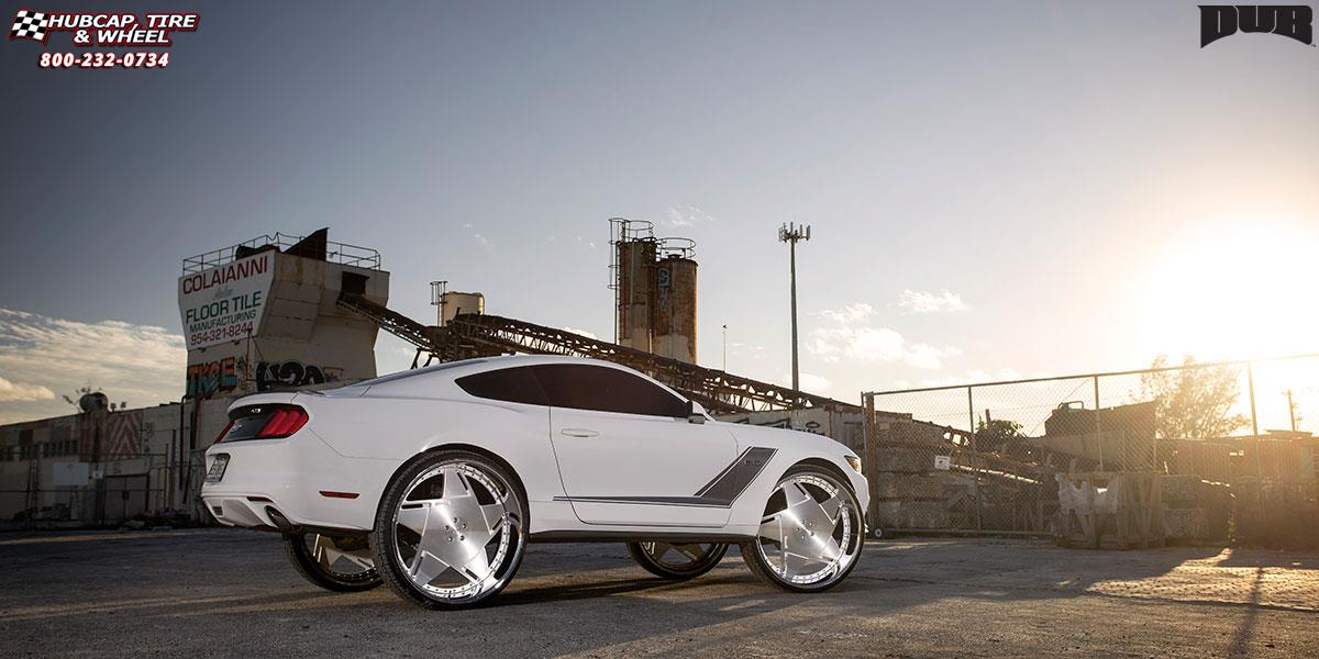 2008 Mustang Rims >> Ford Mustang Dub XB6 - Boosta Wheels Brushed Face | White Windows | Polished Lip