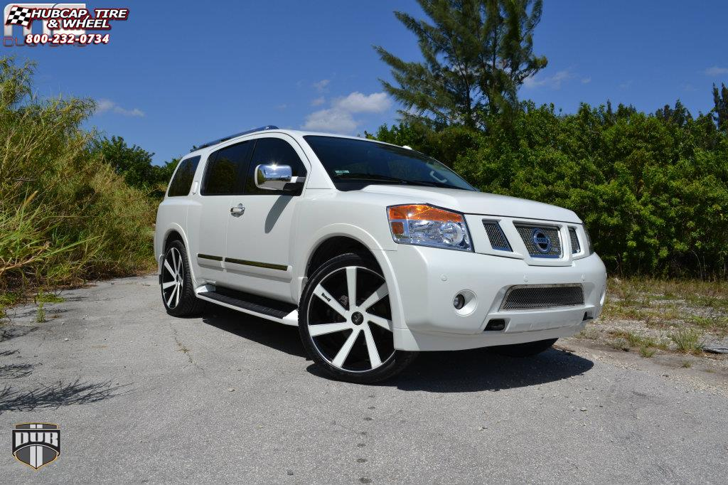 Nissan Armada Dub Directa S133 Wheels Black Amp Milled