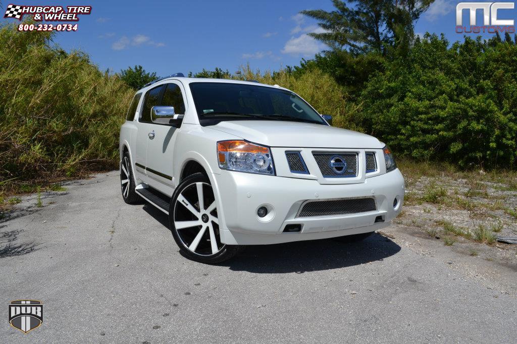 Nissan Pathfinder 22 Inch Rims >> Nissan Armada Dub Directa - S133 Wheels Black & Milled