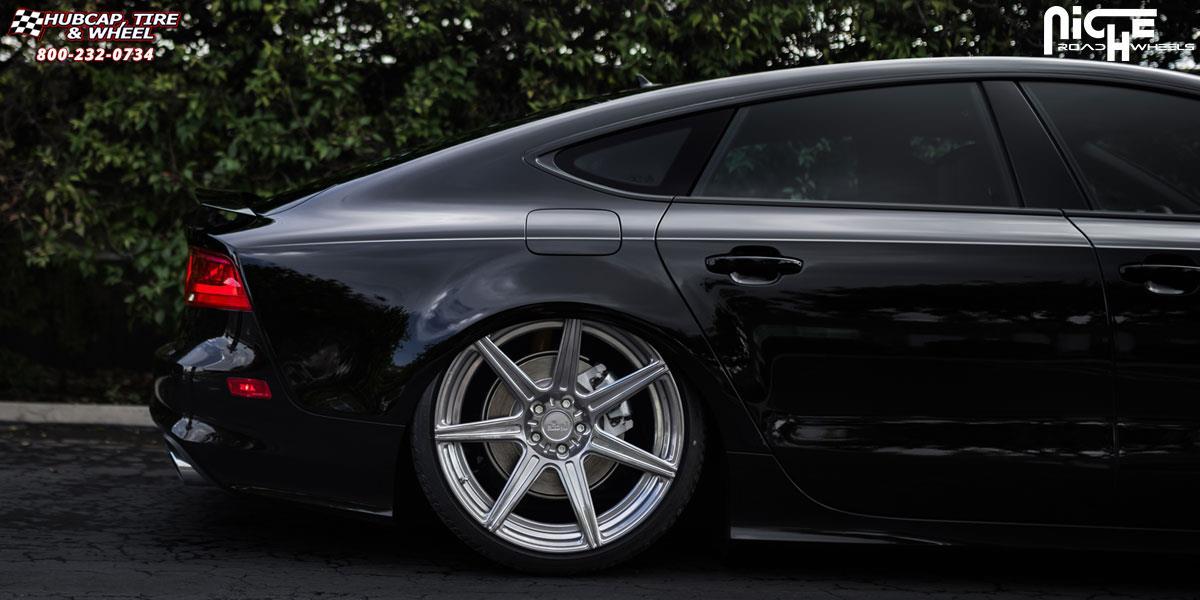 matte black audi a7. audi a7 niche alta 21x105 hi luster polish ddt matte black inner wheels and