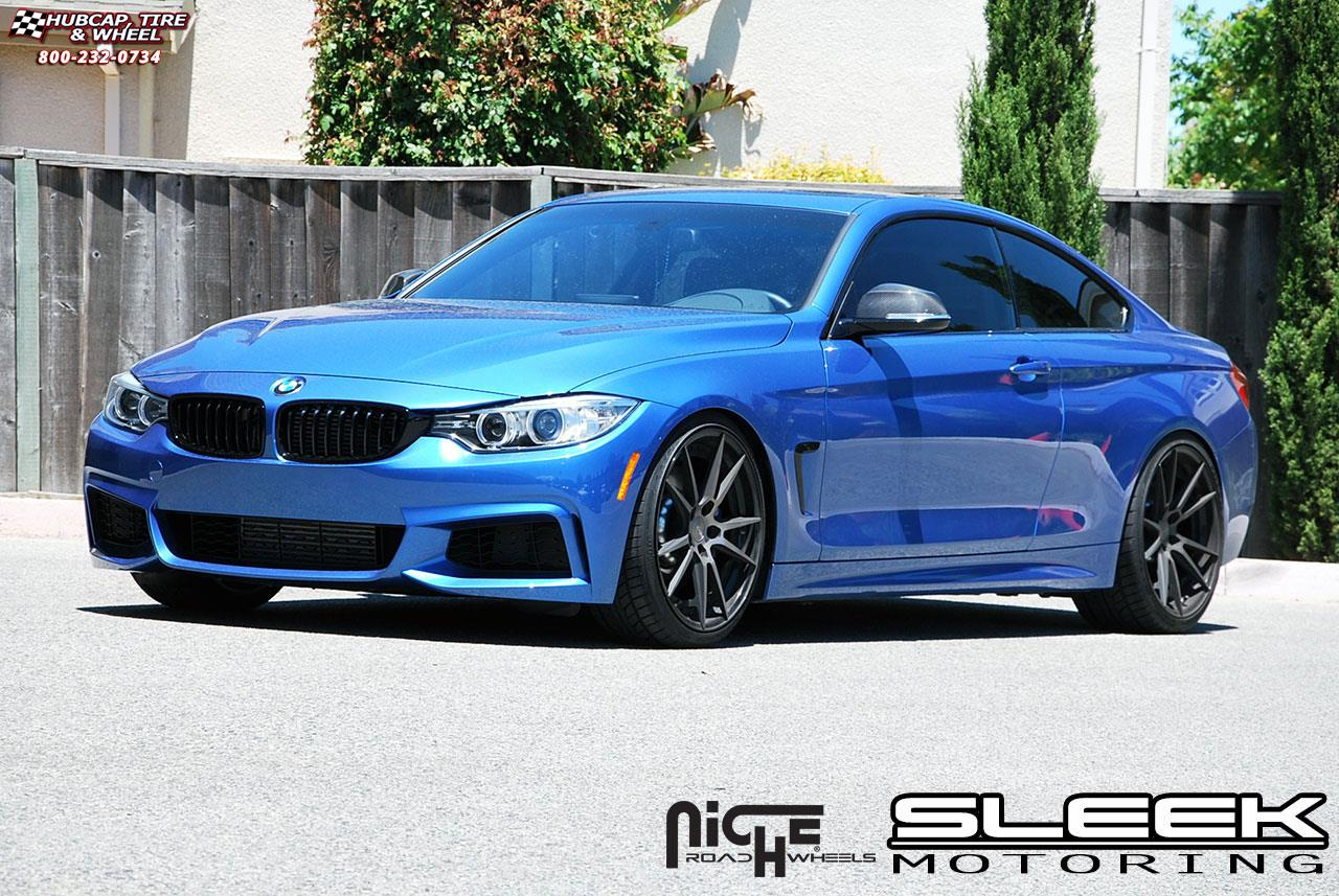 bmw 435i niche grand prix m324 wheels black machined. Black Bedroom Furniture Sets. Home Design Ideas