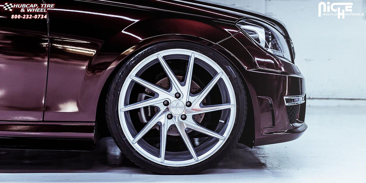 Mercedes benz c300 niche invert m162 wheels silver for Mercedes benz wheel and tire protection