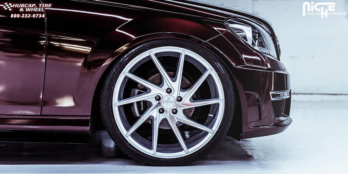 Mercedes benz c300 niche invert m162 wheels silver for 2012 mercedes benz c300 tire size