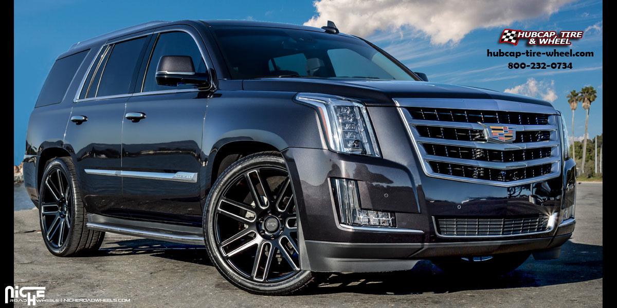 Cadillac Escalade Niche M096 Elan Wheels Matte Black Milled