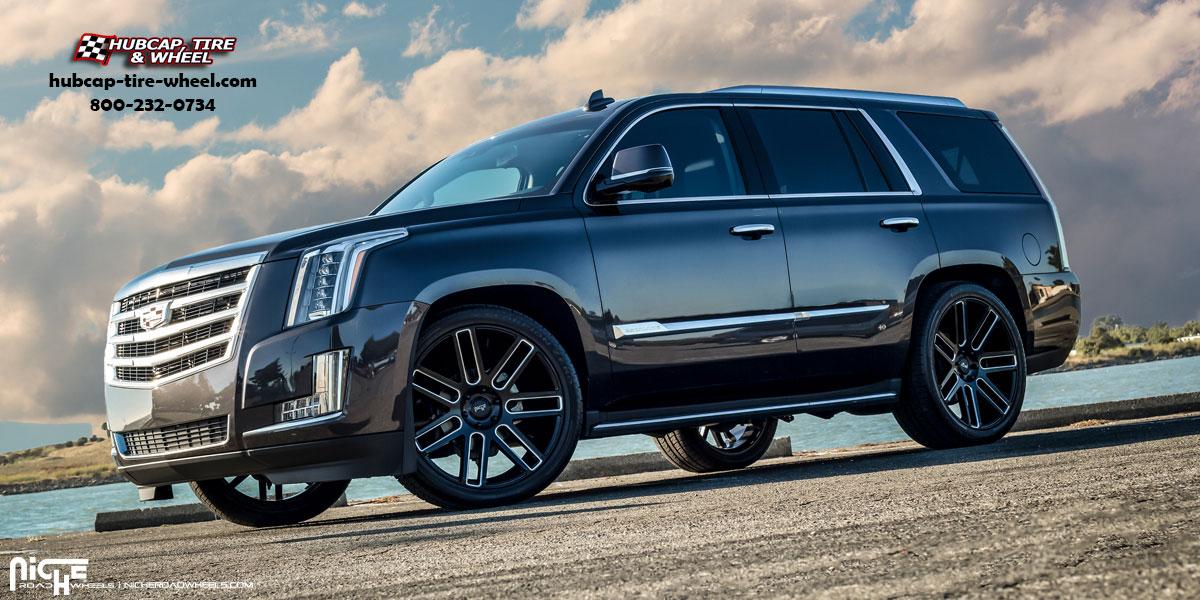 Cadillac Escalade Niche M096 Elan 24 Matte Black Milled Wheels And Rims