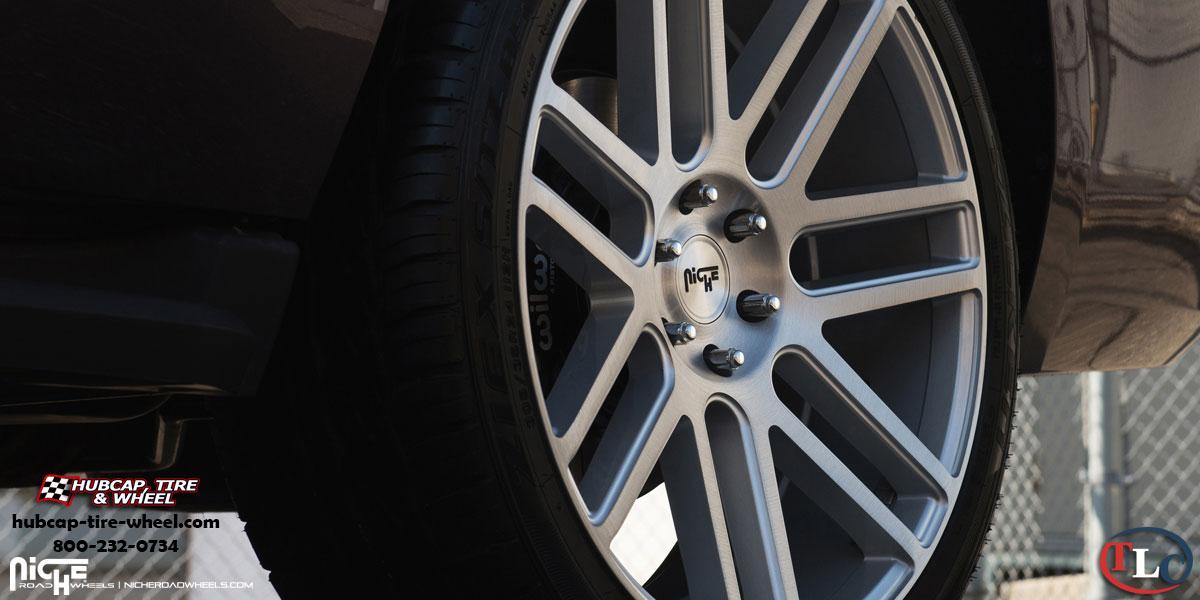 Chevrolet Tahoe Niche M099 Elan Wheels Gloss Silver W