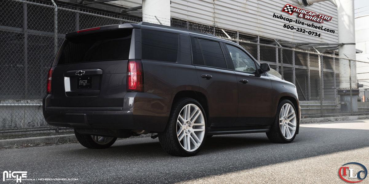 Chevrolet Tahoe Niche M099 Elan Wheels Gloss Silver w ...
