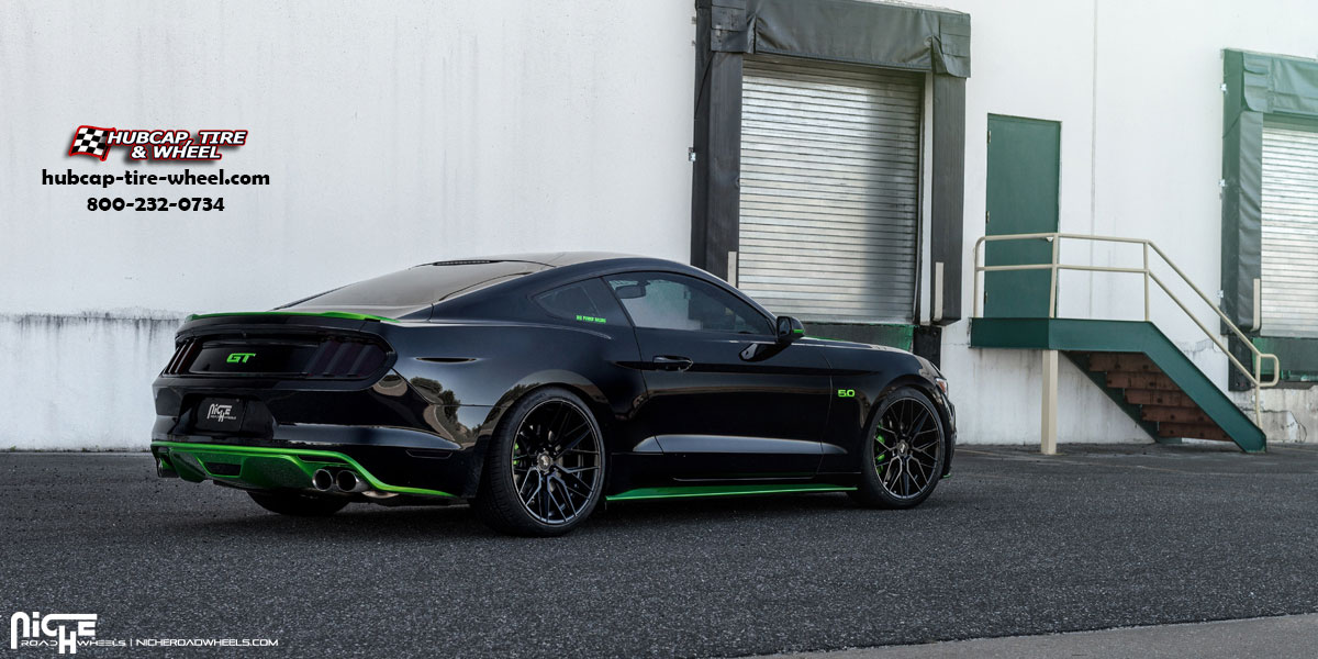 vehicle gallery/ford mustang niche m190 gamma 20  Satin Black wheels and rims