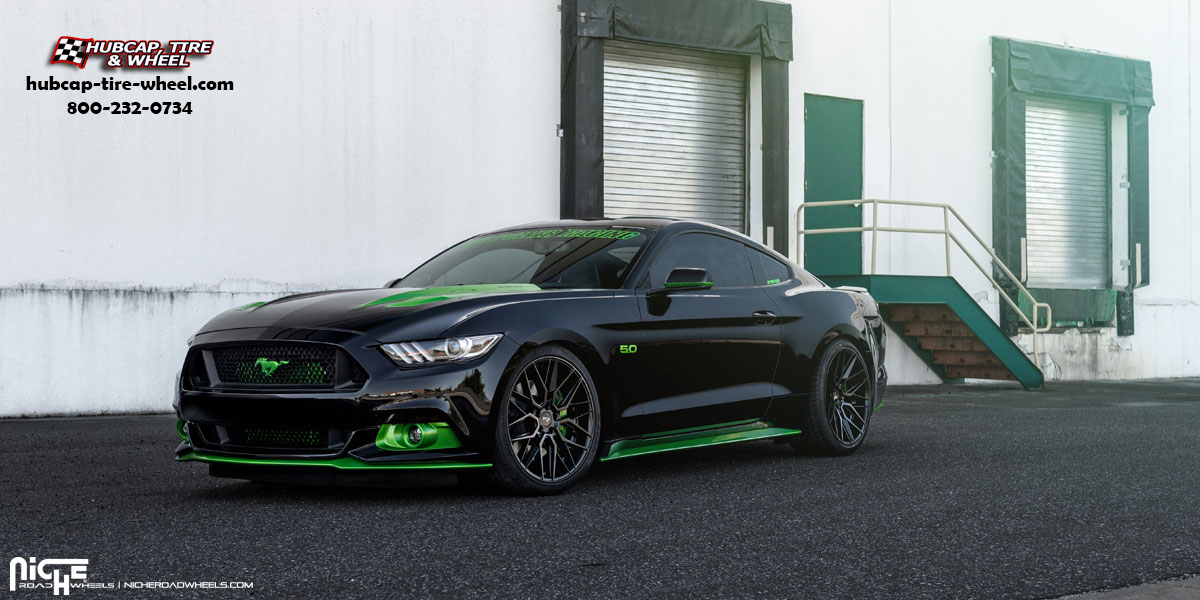 Niche Wheels Mustang >> Ford Mustang Niche M190 Gamma Wheels Satin Black