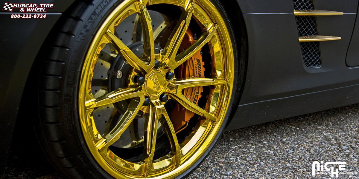 Mercedes benz sls niche monza h44 wheels custom for Mercedes benz wheel and tire protection