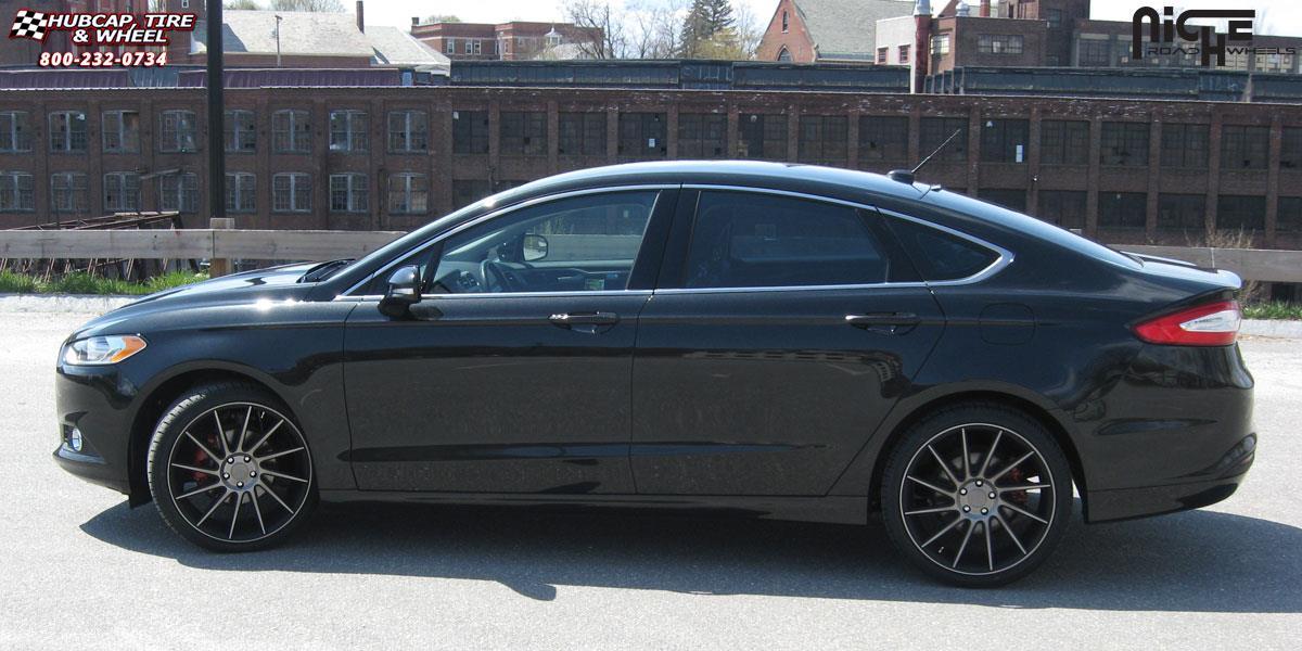 2015 Ford Fusion Rims >> Ford Fusion Niche Surge M114 Wheels Black Machined W Dark Tint